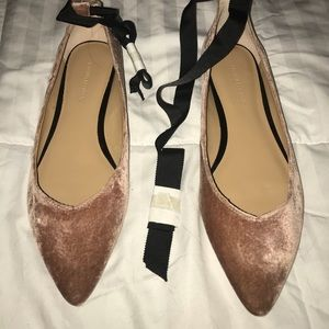 Banana Republic Pink Suede flats with Tie